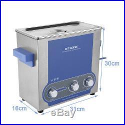 6L Inoxydable Réservoir Nettoyeur à ultrasons 40KHz Timing Ultrasonic Cleaner FR