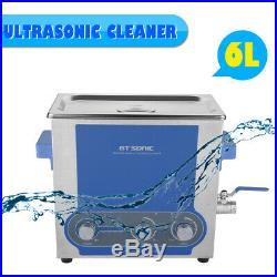 6L Nettoyeur à Ultrason Professionnel Ultrasonic Cleaner Chauffage Inoxydable EU