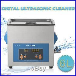 6L Professionel Nettoyeur à Ultrason Cleaner Digital Puissance Chaufage Minuteur