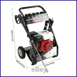 6,5 CV Nettoyeur essence thermique moteur haute pression 180 Bar 9L/min 196CC