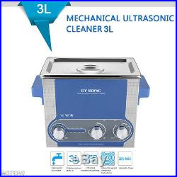 FR 3L Nettoyeur à Ultrasons Ultrasonic Cleaner Chauffage Puissance Minuteur 100W