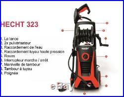 Hecht323 Nettoyeur haute pression 165 bar 2200 W5m tuyau tambour à tuyau 480