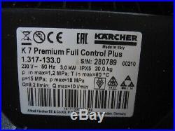 Kärcher K7 Premium Full Contrôle Plus Accueil T450 Haute Pression Facture V06689