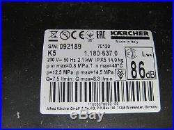 Kärcher Nettoyeurs Haute Pression K 5 Accueil 1.180-637.0 avec Patio Cleaner