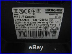 Kärcher Nettoyeurs Haute Pression K 5 Full Contrôle 1.324-500.0 Facture Y05701