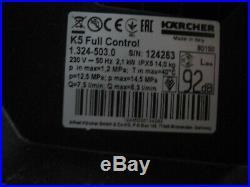 Kärcher Nettoyeurs Haute Pression K 5 Full Contrôle Accueil 1.324-503.0 Facture