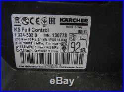Kärcher Nettoyeurs Haute Pression K 5 Full Contrôle Maison 1.324-503.0 Facture