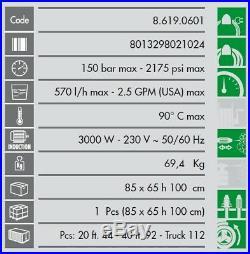 Lavor Nettoyeur haute pression Eau chaude 150 Bars 570L/h MISSOURI 1310