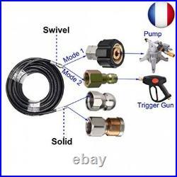 M MINGLE Kit de jet d'égout pour nettoyeur haute pression, 1/4 NPT, tuyau de