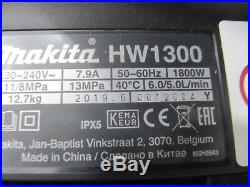 Makita Nettoyeurs Haute Pression HW1300 130 BAR 1800W Facture Y07194