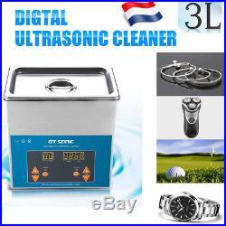 Nettoyeur A Ultrasons Professionnel 3l Nettoyage Ultrason Chauffage Fr