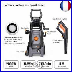 Nettoyeur Haute Pression, 2000W 160Bar 450L/h Moteur(2000w 450l/H 160bars Gris)