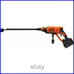 Nettoyeur haute pression à Batterie 18V 2Ah BLACK & DECKER 24 bar 350 PSI Charge