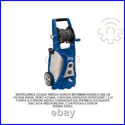 Nettoyeur haute pression à eau froide Annovi Reverberi mod 588AR 150 bar 2500W