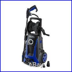 Nettoyeur haute pression compact 2200W pistolet tuyau 5m 165 bar bleu et noir