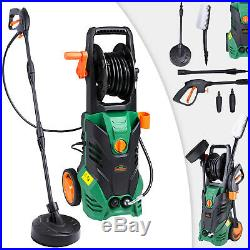 Nettoyeur haute pression vert-noir 135 bar 1800 W avec accessoires entretien