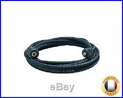 Nilfisk 6411048 Rallonge flexible Acier avec le couplage rapide, 7m, Noir