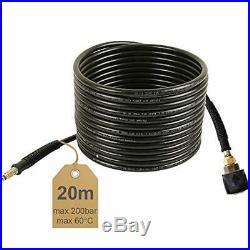 Rallonge de Tuyau Haute Pression 20 m 200 Bar 60 °C pour Nettoyeur Karcher Noir