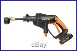 Worx 20 V Batterie Nettoyeur haute pression Hydro Shot, transportable